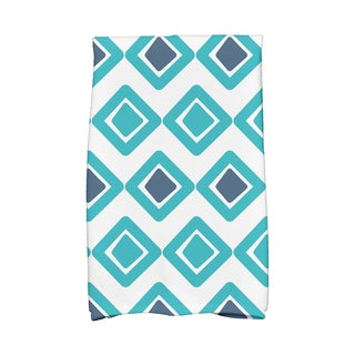 16 x 25-inch,Diamond Jive 2 Geometric Print Hand Towel