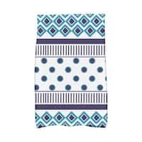 16 x 25-inch,Scrambled Prints Geometric Print Hand Towels