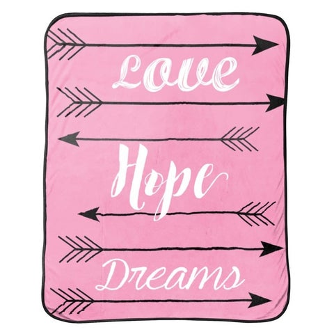 """Limited Too """"Love Hope Dreams"""" Silk Touch Throw"""