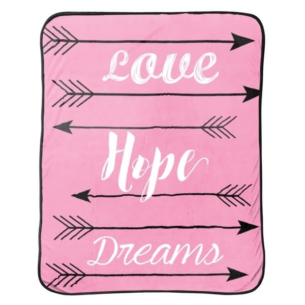 "Limited Too ""Love Hope Dreams"" Silk Touch Throw"