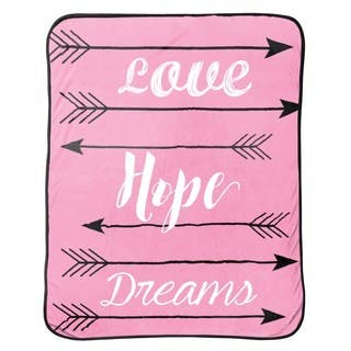 """Limited Too """"Love Hope Dreams"""" Silk Touch Throw