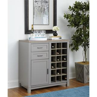 Ameriwood Home Carver Grey/ Sonoma Oak Bar Cabinet