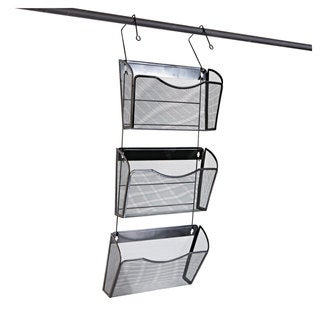 Universal One Mesh Three-Pack Wall Files with Hanger Letter Black