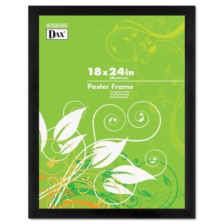 DAX Black Solid Wood Poster Frames with Plastic Window Wide Profile 18 x 24