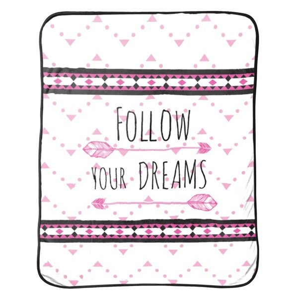 "Limited Too ""Follow Your Dreams"" Silk Touch Throw"