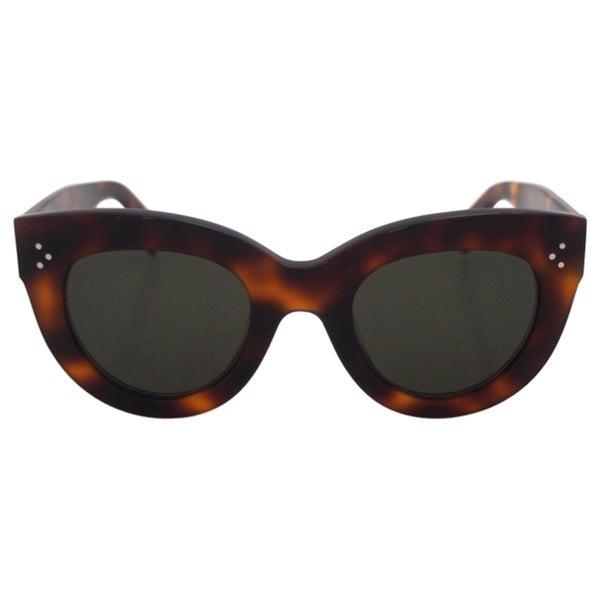 9082da02ec Shop Celine Women s CL 41050 S 05L1E - Havana Sunglasses - Free ...