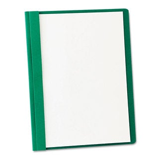 Oxford Clear Front Report Cover 3 Fasteners Letter 1/2 inches Capacity Green 25/Box