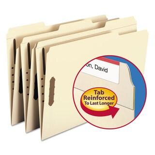 Smead Folders Two Fasteners 1/3 Cut Assorted Top Tabs Legal Manila 50/Box