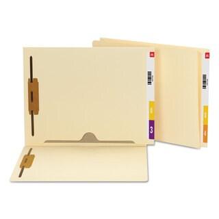 Smead Reinforced End Tab Pocket Folder Two Fasteners Letter Manila 50/Box
