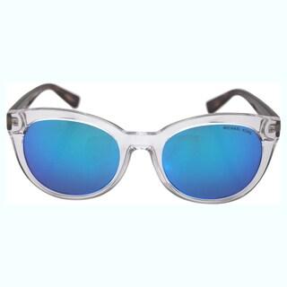 Michael Kors Women's MK 6019 305025 Champagne Beach - Clear Tortoise / Blue Sunglasses