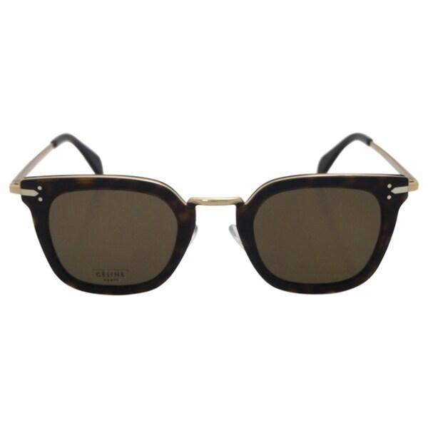 0dcc5f62639 Shop Celine Women s CL 41402 S ANT X7 - Dark Havana Gold Sunglasses ...