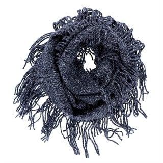 LA77 Knit Marble Fringe Infinity Scarf