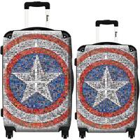 iKase Captain America 2-piece Hardside Spinner Luggage Set