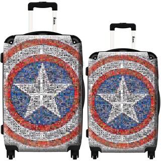 iKase Captain America 2-piece Hardside Spinner Luggage Set