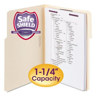 Smead Extra-Capacity Manila Folders with SafeSHIELD Coated Fasteners Letter 50/Box