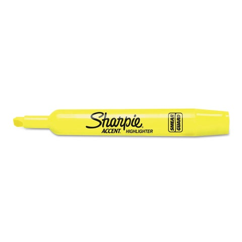 Sharpie Accent Tank Style Highlighter Chisel Tip Fluorescent Yellow 36/Box