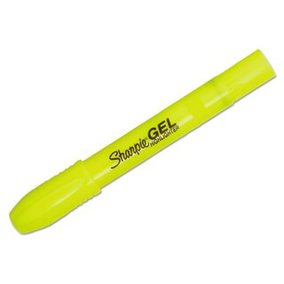 Sharpie Gel Highlighter Bullet Tip Fluorescent Yellow Dozen