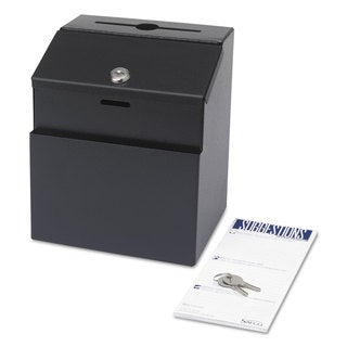 Safco Steel Suggestion/Key Drop Box with Locking Top 7 x 6 x 8 1/2