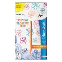 Paper Mate Point Guard Flair Bullet Point Stick Pen Tropical Inks 0.7mm 36/Pack