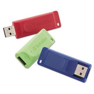 Verbatim Store 'n' Go USB 2.0 Flash Drive 4GB Blue/Green/Red 3/Pack