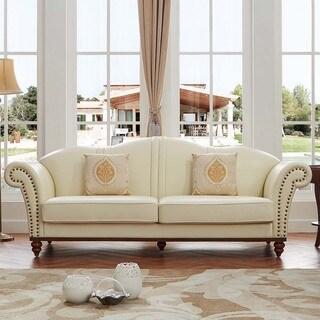 Luca Home Off White Sofa