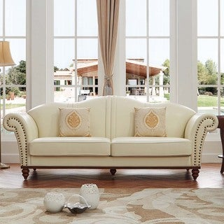 Luca Home Off White Sofa