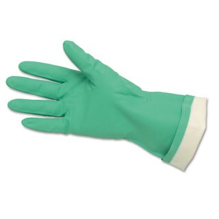 Memphis Flock-Lined Nitrile Gloves Green 12 Pairs