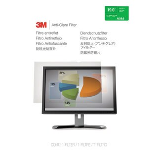 3M Antiglare Flatscreen Frameless Monitor Filters for 19 inches Widescreen LCD Monitor