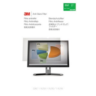 3M Antiglare Flatscreen Frameless Monitor Filters for 23-inch Widescreen LCD Monitor