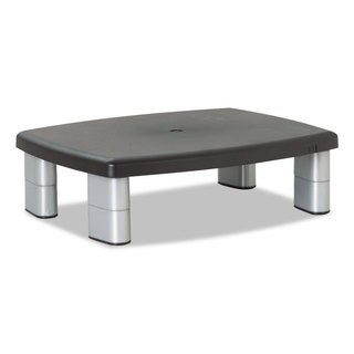 3M Adjustable Height Monitor Stand 15 x 12 x 1 to 5 7/8 Black/Silver