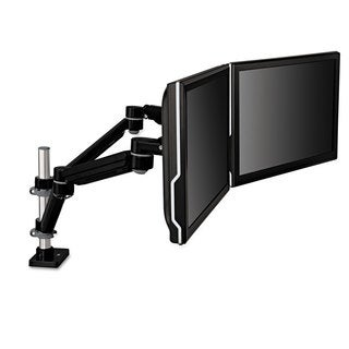 3M Easy-Adjust Dual Monitor Arm; 4 1/2 x 11 1/2 Black/Grey