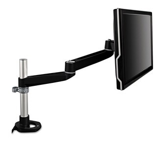 3M Dual-Swivel Monitor Arm 4 1/2 x 25 1/2 Black/Grey