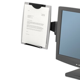 Fellowes Office Suites Monitor Mount Copyholder Plastic Holds 150 Sheets Black/Silver