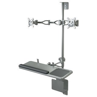 BALT Optional Second Monitor Mount 19 1/2-inch wide x 19 1/2-inch deep x 4 3/4h Grey