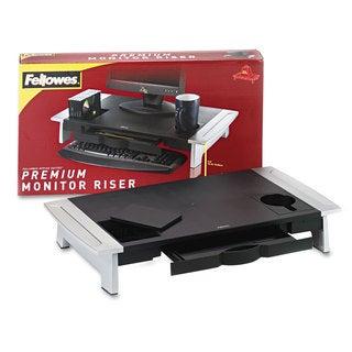 Fellowes Office Suites Premium Monitor Riser 27 x 14 x 4 1/4 Black/Silver