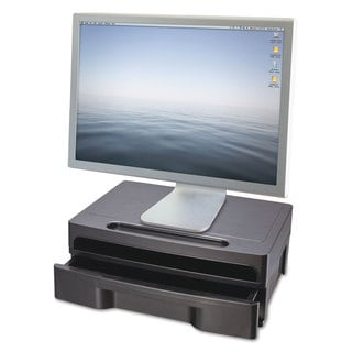 Officemate Monitor Stand with Drawer 13 1/8 x 9 7/8 x 5 Black