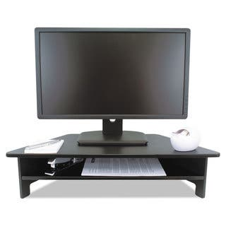 Victor High Rise Collection Monitor Stand 27 x 11 1/2 x 6 1/2-7 1/2 Black|https://ak1.ostkcdn.com/images/products/14066023/P20678818.jpg?impolicy=medium