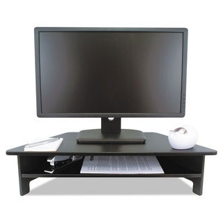 Victor High Rise Collection Monitor Stand 27 x 11 1/2 x 6 1/2-7 1/2 Black