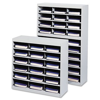 Safco Steel Project Center Organizer 18 Pockets 37 1/2 x 15 3/4 x 36 1/2