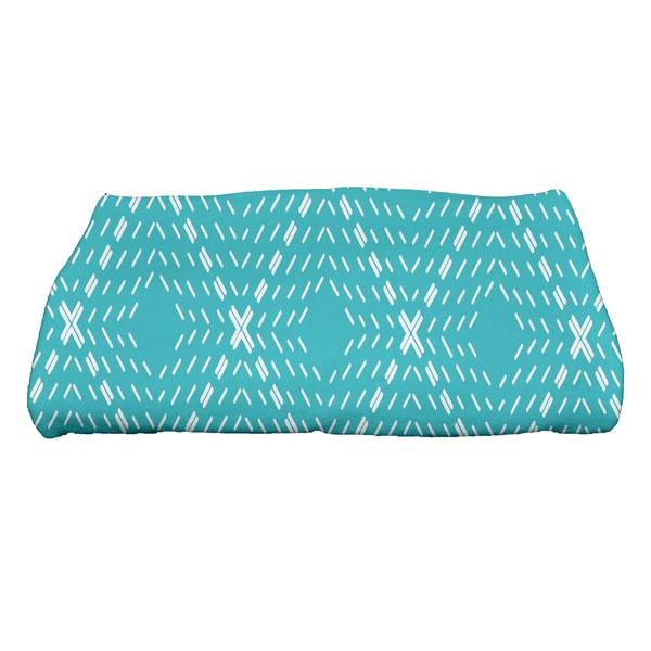 28 x 58-inch, Dots and Dashes, Geometric Print Bath Towel