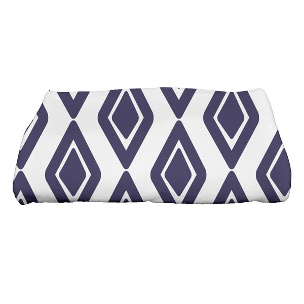 28 x 58-inch, Diamond Jive 1, Geometric Print Bath Towel