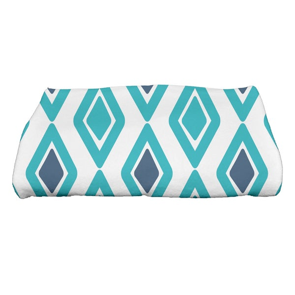 28 x 58-inch, Diamond Jive 2, Geometric Print Bath Towel