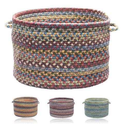 Wool Spacedye Large Floor Storage Basket with Handles