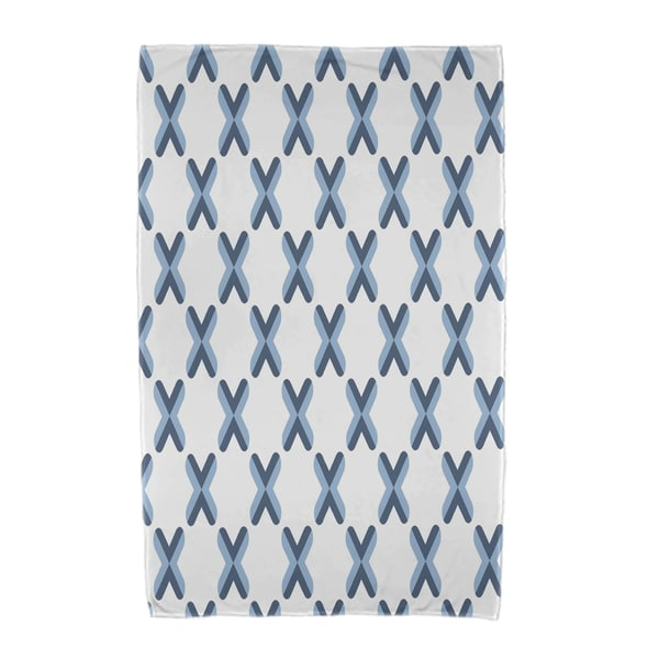 30 x 60-inch, Criss Cross, Geometric Print Beach Towel
