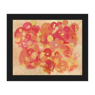 Crimson Light Spots Framed Canvas Wall Art Print