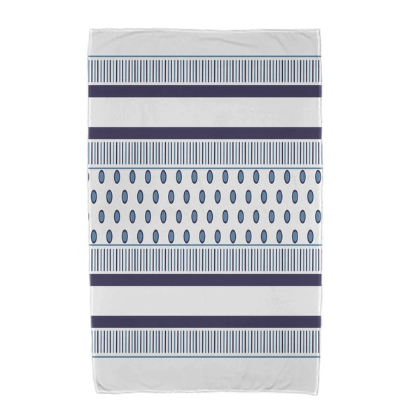 30 x 60-inch, Comb Dot, Stripe Print Beach Towel