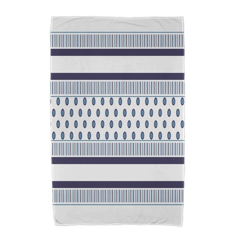 30 x 60-inch, Comb Dot, Stripe Print Beach Towel