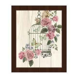 Butterfly Cage Framed Canvas Wall Art Print