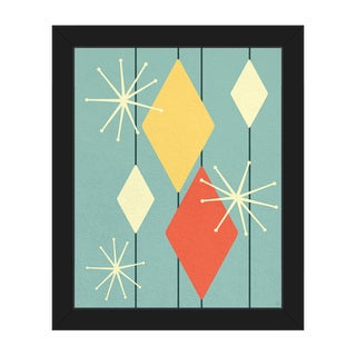 Diamond Bling Gameshow Framed Canvas Wall Art