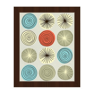 Circle Explosion Framed Canvas Wall Art Print